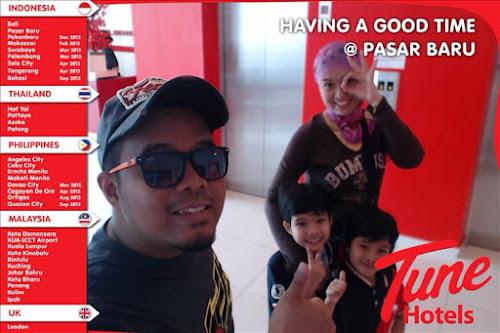 Snap Gambar Selfie Dan Emel Di Tune Hotel Pasar Baru