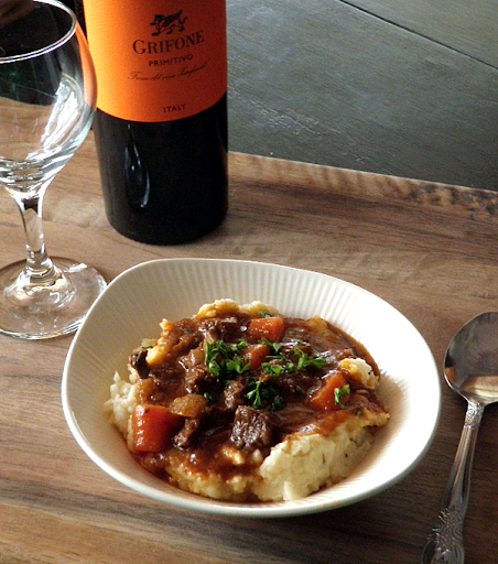 French Beef Stew in Red Wine