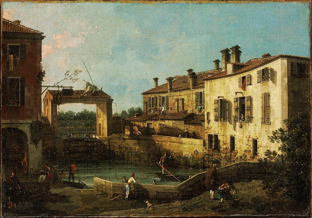 Canaletto - Lock near Dolo
