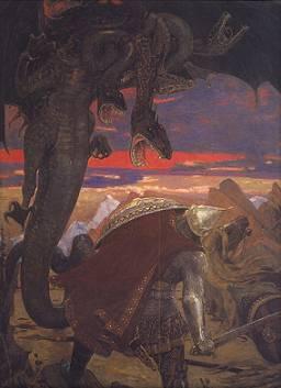 Картина Васнецова - Бой Добрыни с Горынычем