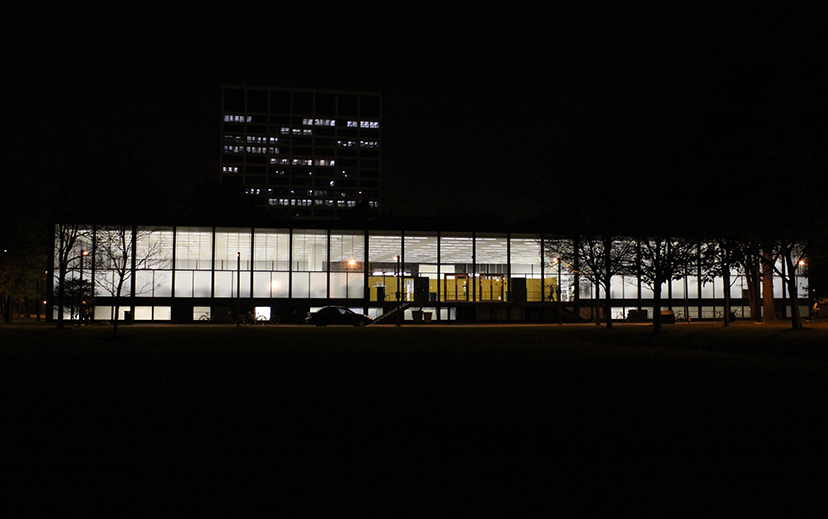 Crown Hall, Illinois Institute of Chicago, Chicago, Mies van der Rohe, architect