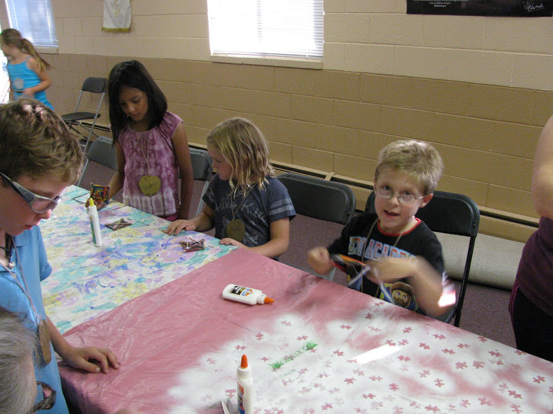 Kids Doing Crafts During VBS