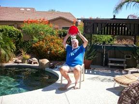Rick doing the ice bucket challenge