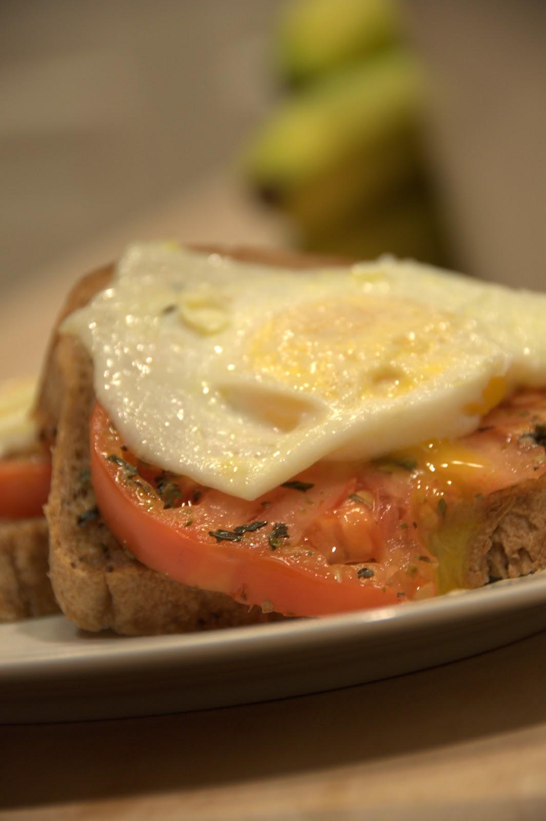 deliciously organized: open face egg sandwich
