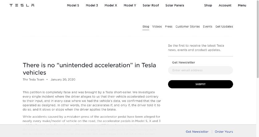Tesla example acquisition announcement press release.