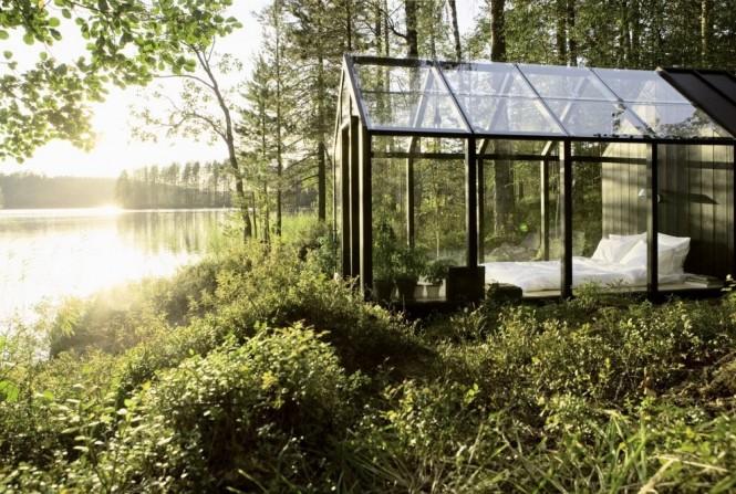 спалня в градината