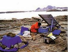 지진관측계 설치 모습