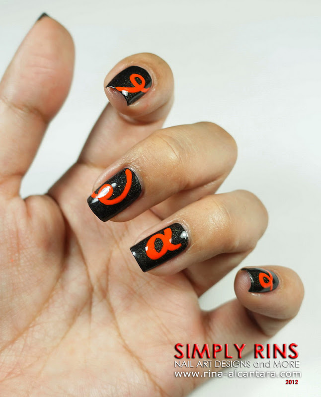Sony Alpha Logo Nail Art Design