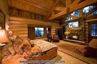 Phòng ngủ mộc mạc cho mùa đông ấm áp
