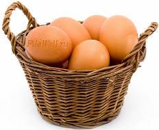 Фото - Яйца для омлета в корзине