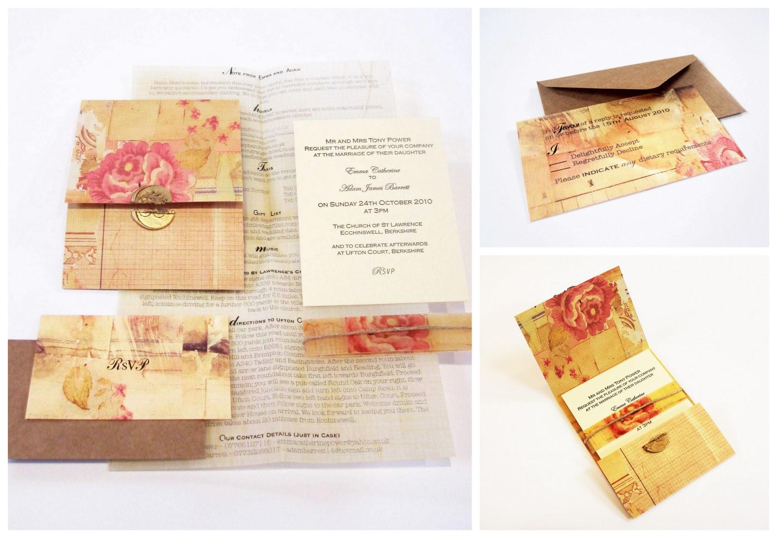Kooky Vintage UK Wedding Stationery