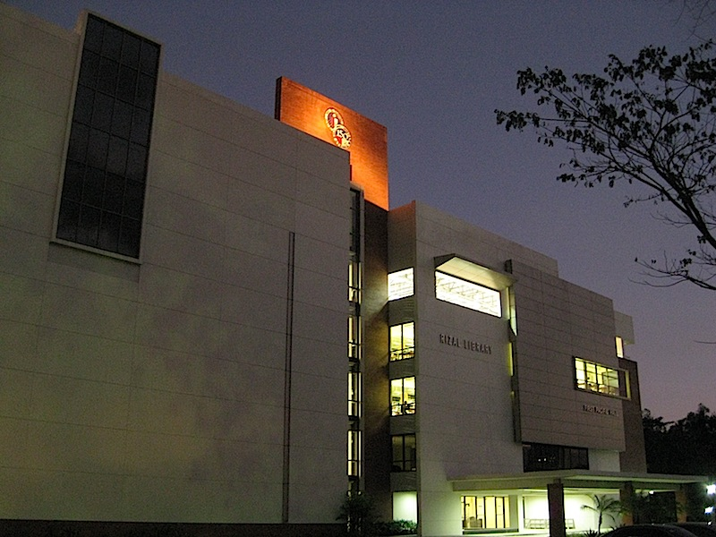 Rizal Library at sunset