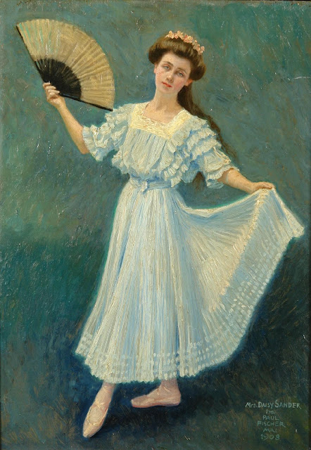 Paul Gustave Fischer - Portrait of Mrs. Daisy Sander.