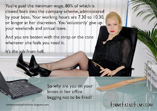 dominatrix boss might not sack you but she'll probably cut your pay