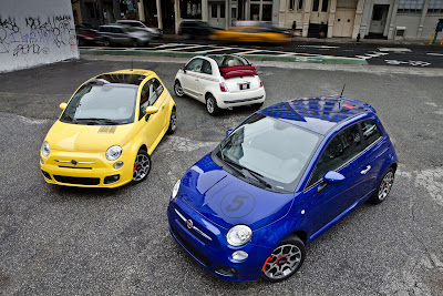 Fiat 500 with Barcode Decal