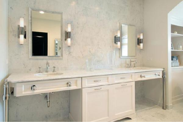 All White Bathroom white marble in all its wonderous white glory! - enchanted