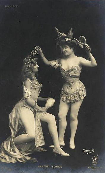 vintage danseuses duo