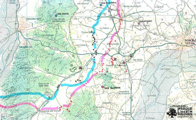 Mapa posiciones finales Batalla del Jarama Sur.