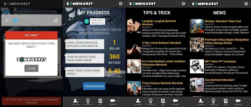 Zombigaret Aplikasi Berhenti Merokok