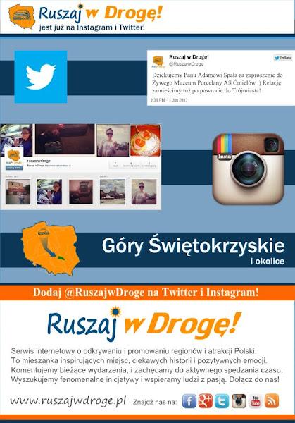 Ruszaj w Drogę na Instagram i Twitter
