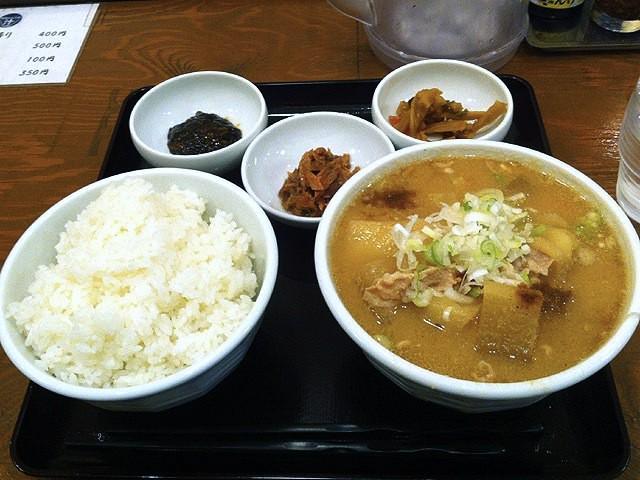 豚汁定食@御飯大盛り