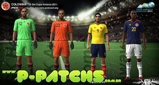 Colômbia Kitset - Copa América 2011 para PES 2011 PES 2011 download P-Patchs