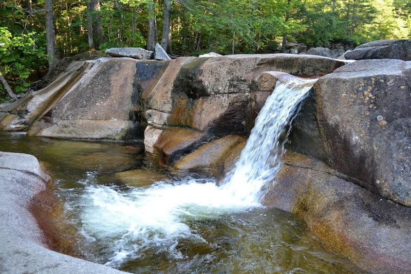 "Водопад ""Купель Дианы"", Нью-Гэмпшир (Diana's Baths, NH)"