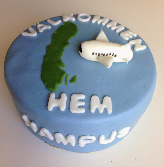 Välkommen-hem-tårta
