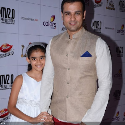 Rohit Roy with his daughter during the 12th Annual Indian Telly Awards, held in Mumbai.