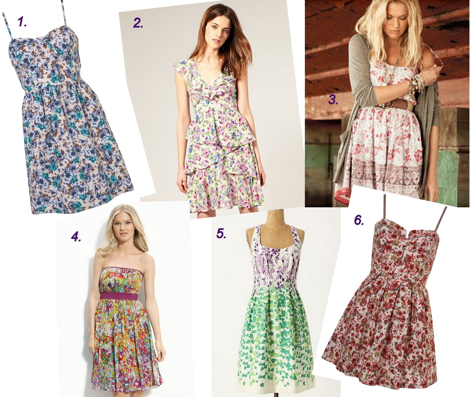 Ruby Mines Girl in Bloom Floral Prints and Dresses