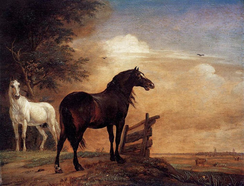 Paulus Potter - Horses in the meadow