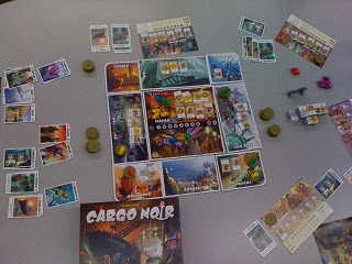 Cargo Noir game by Days of Wonder in play