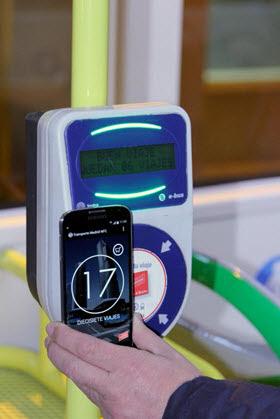 En pruebas el pago a través del móvil con NFC del transporte público