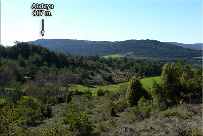 Atalaya visto desde el alto de Los Mojones