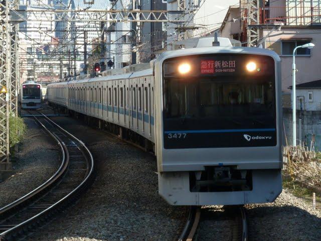 小田急電鉄 急行 新松田行き 3000形(東京電力計画停電に伴う運行)