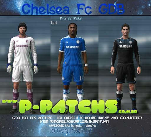 Chelsea 11-12 Kitset Techfit para PES 2011 PES 2011 download P-Patchs