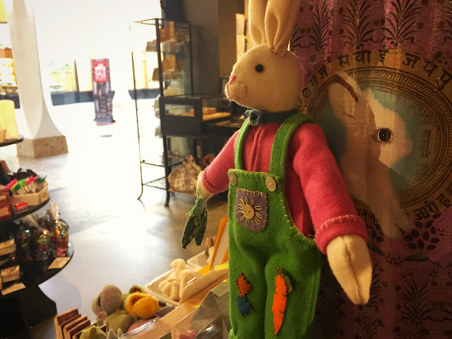 The Easter Bunny, Fireworks Gallery, Westfield Southcenter, Tukwila WA.