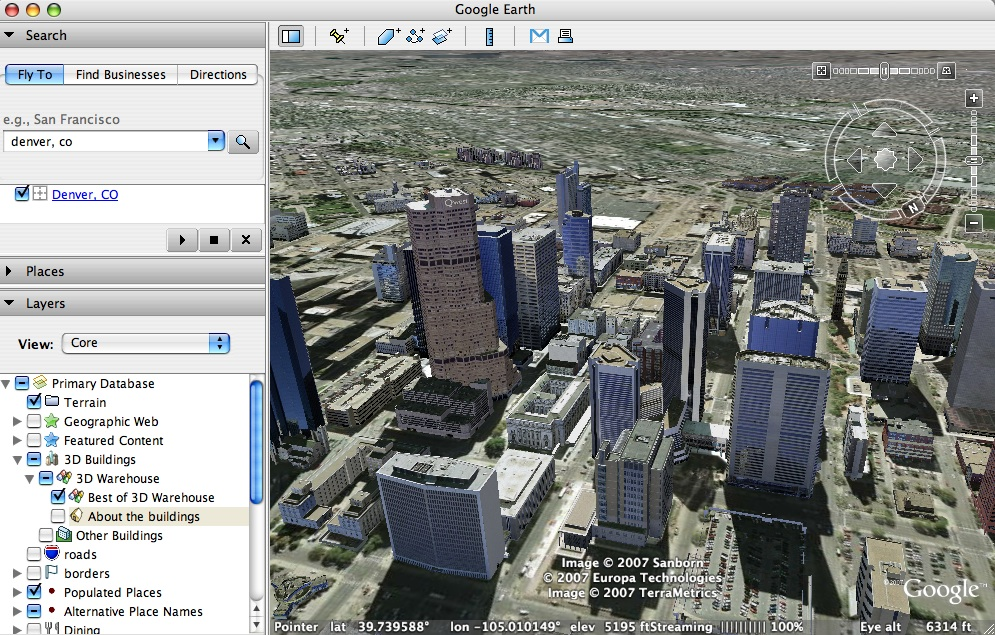 Download free Games & Softwares: Google earth 4 0
