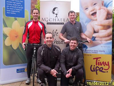 Back Row: Dermot O'Hanlon, Adrian Woolsey; Front Row: Shane O'Hanlon, Gavin McEvoy