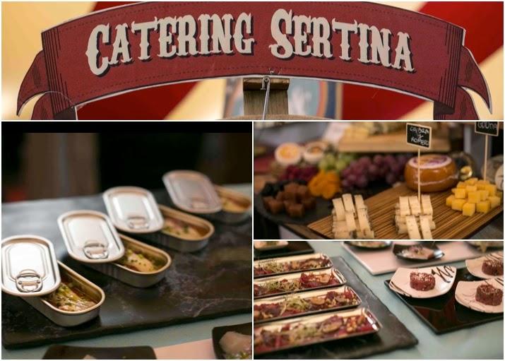 Degustación de productos del catering Sertina durante las mil y una bodas.