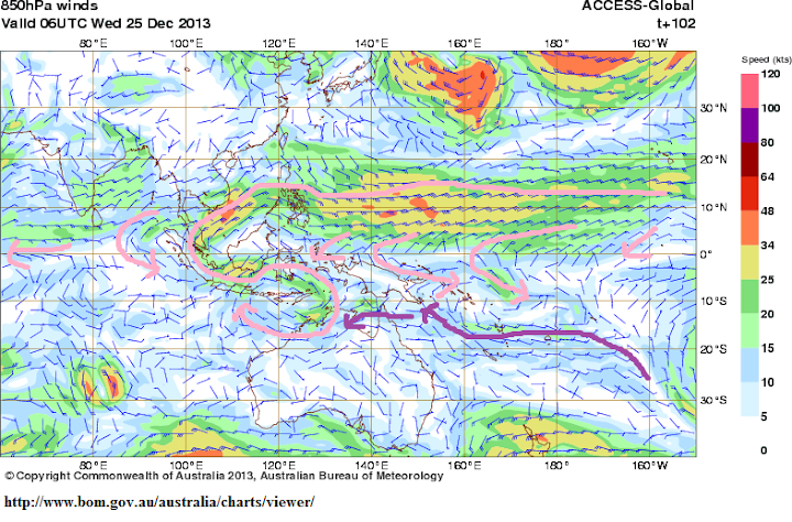 t102hrs 25th decmonsoon trough