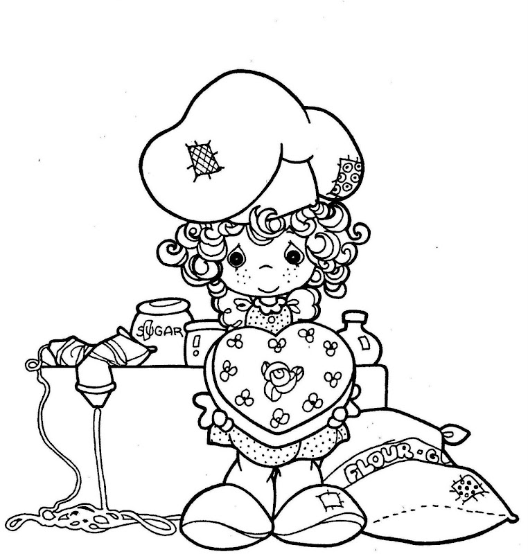 Heart cake bakery - precious moments coloring pages title=