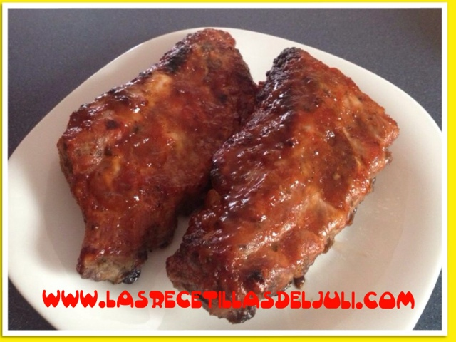 Costillas de cerdo con salsa barbacoa casera