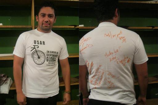 Ganador de camiseta de Bici Crítica El Salvador autografiada por Gondwana