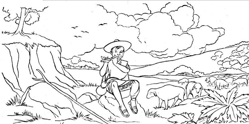 Benito Juárez de niño para colorear