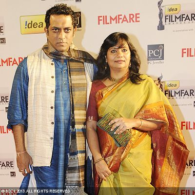 Anurag Basu with wife Tani during the 58th Idea Filmfare Awards 2013, held at Yash Raj Films Studios in Mumbai.Click here for:<br />  58th Idea Filmfare Awards