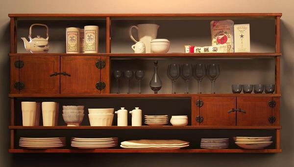 wooden brown sideboard shelf storage furniture