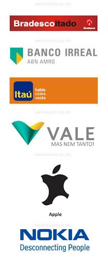 Logos modificados pela crise econômica