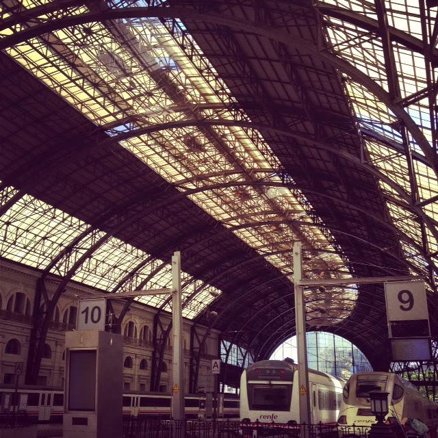 Barcelona. Estación de tren de Barcelon
