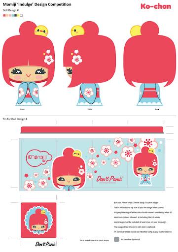 diseño de una kokeshi de charuca en el que me he basado